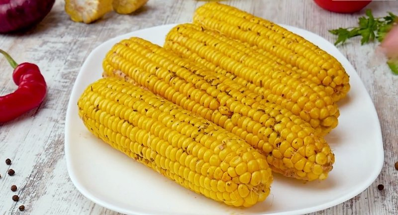 вкусная кукуруза в духовке
