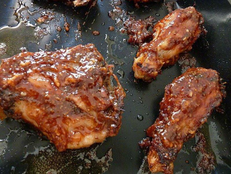 курица в маринаде барбекю