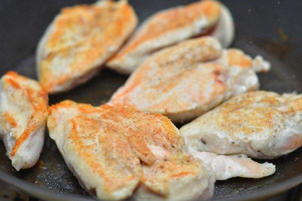 приготовление куриного филе в сливочном соусе