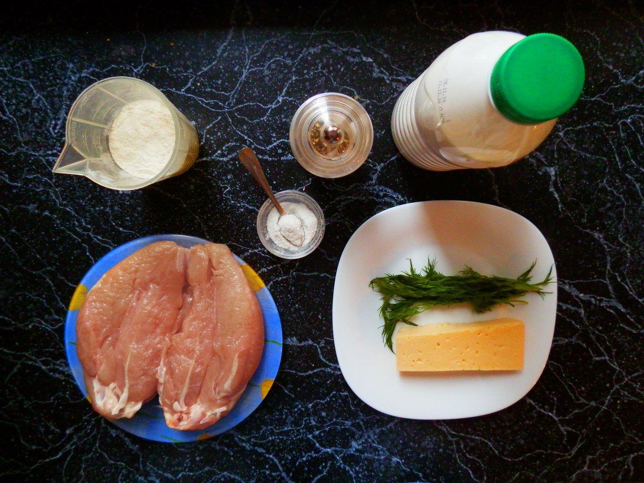 ингредиенты для приготовления оладьев