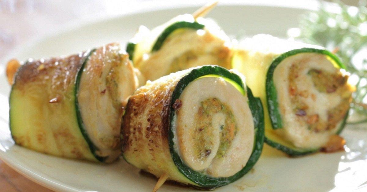 Идеальное сочетание: мясо и овощи. Куриный шашлык с кабачками.
