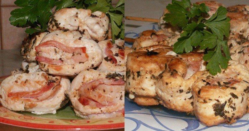 куриный шашлык на шпажках на сковороде