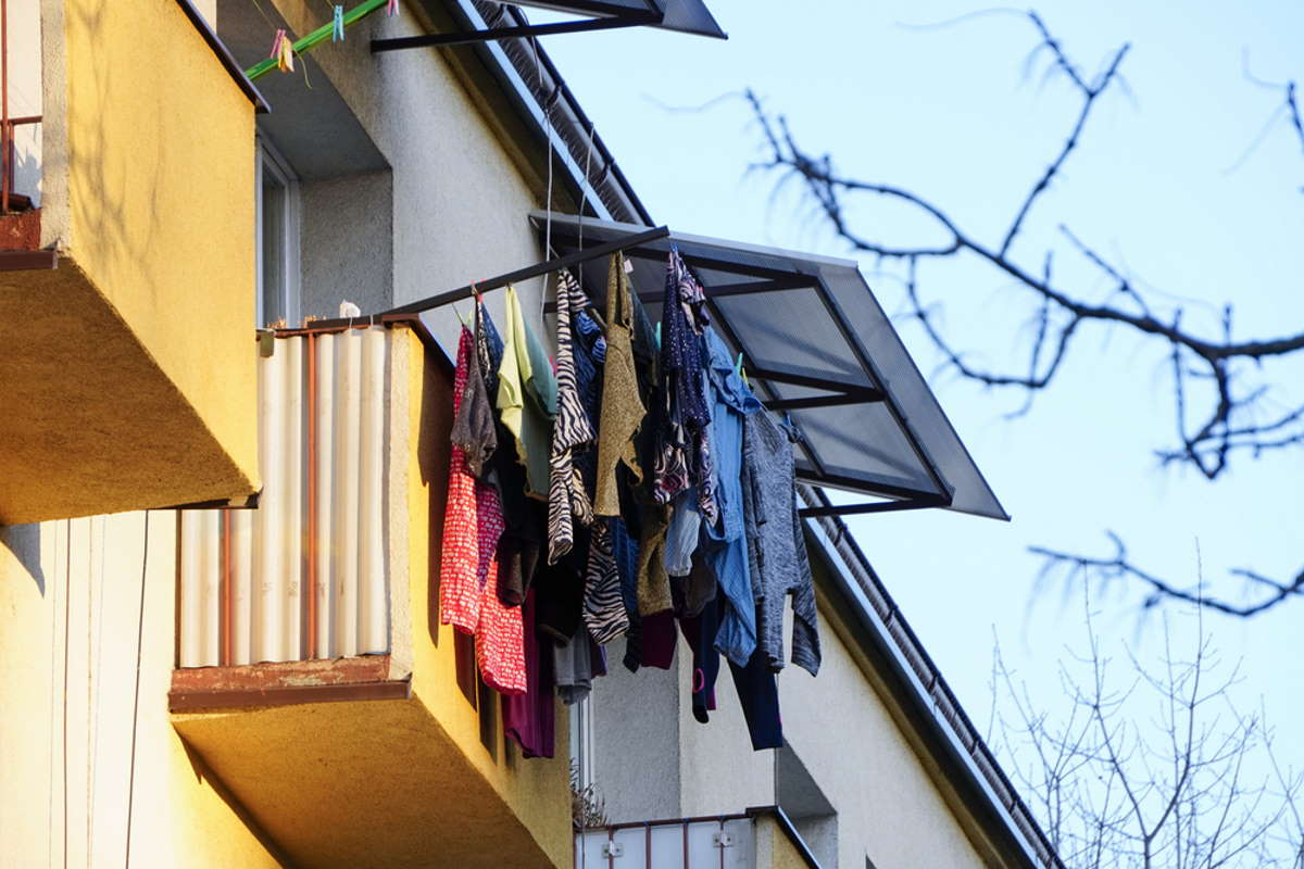 квартира без балкона где сушить белье