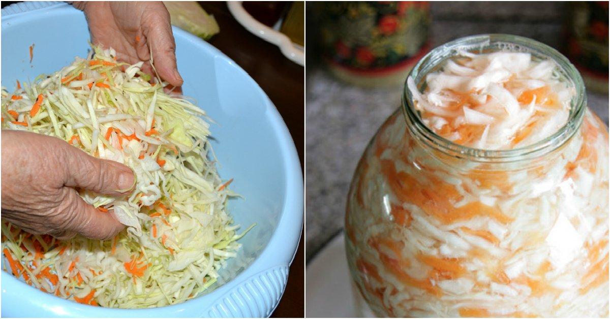 Квашеная капуста рецепт пошаговый с фото