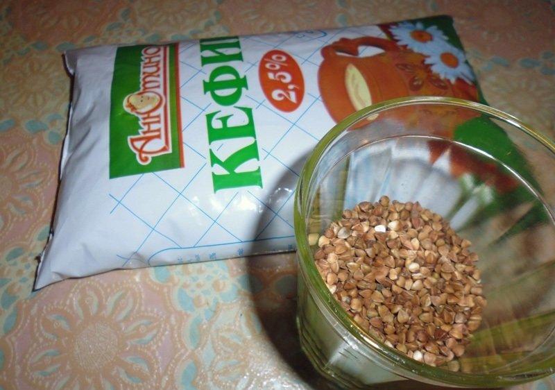 гречка и кефир