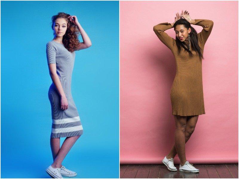 Как красиво сочетать платье и кроссовки Вдохновение,Советы,Женщины,Красота,Лайфхаки,Мода,Обувь,Одежда,Стиль