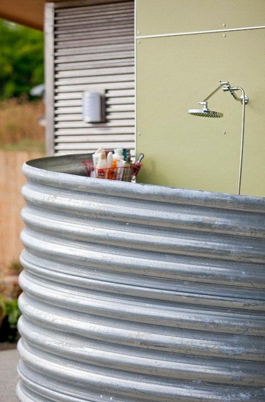 летний душ с горячей водой