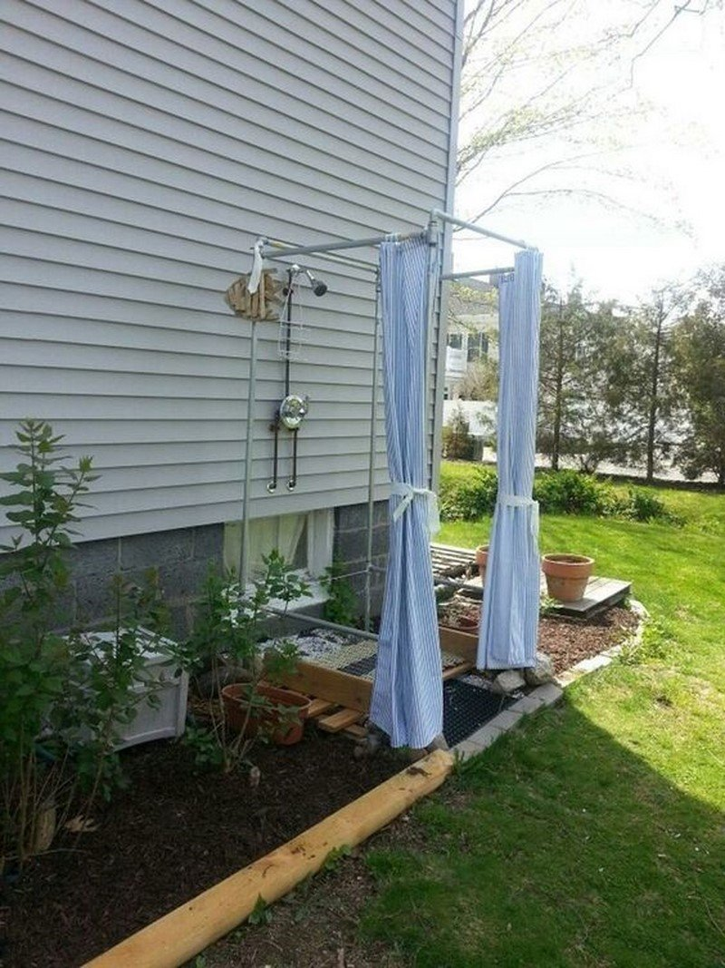 летний душ в огороде