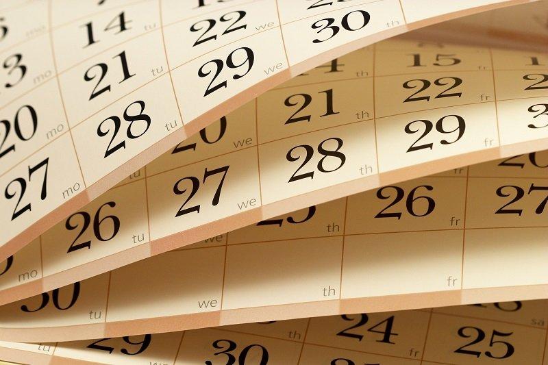 календарь похудения 2019