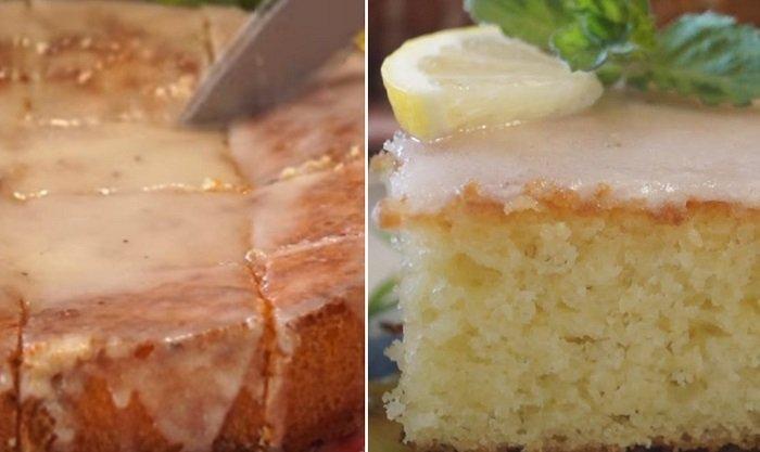 лимонный пирог из манки