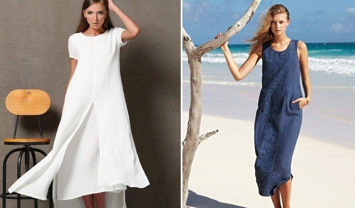льняные платья от дизайнеров