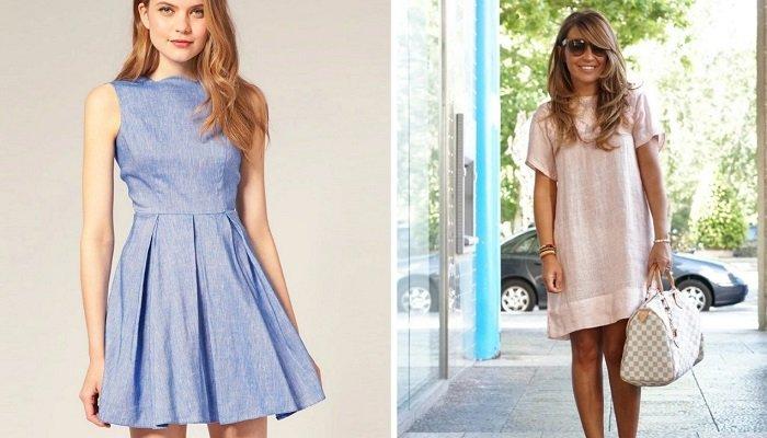 красивые льняные платья