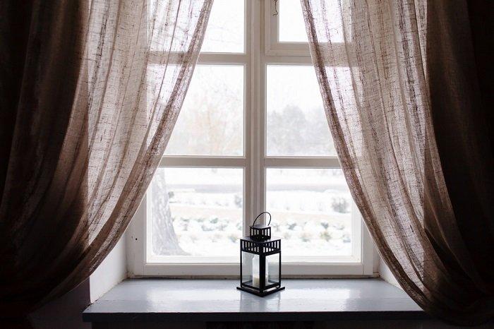 красивые льняные шторы