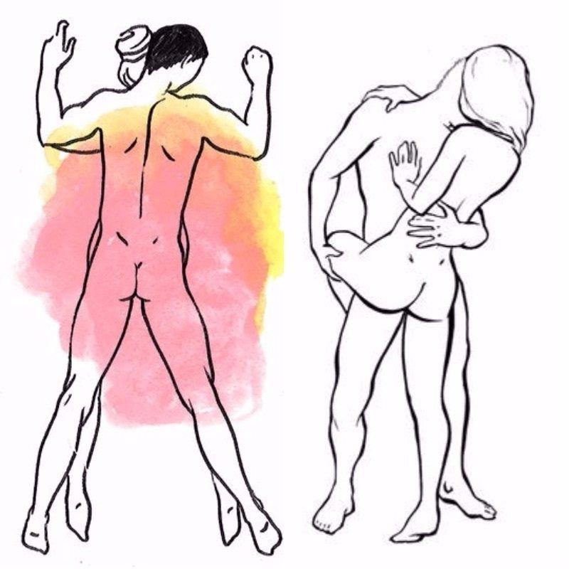 Позы стоя для секса