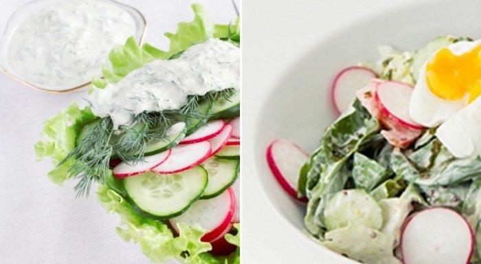 салат из редиса и сметаны
