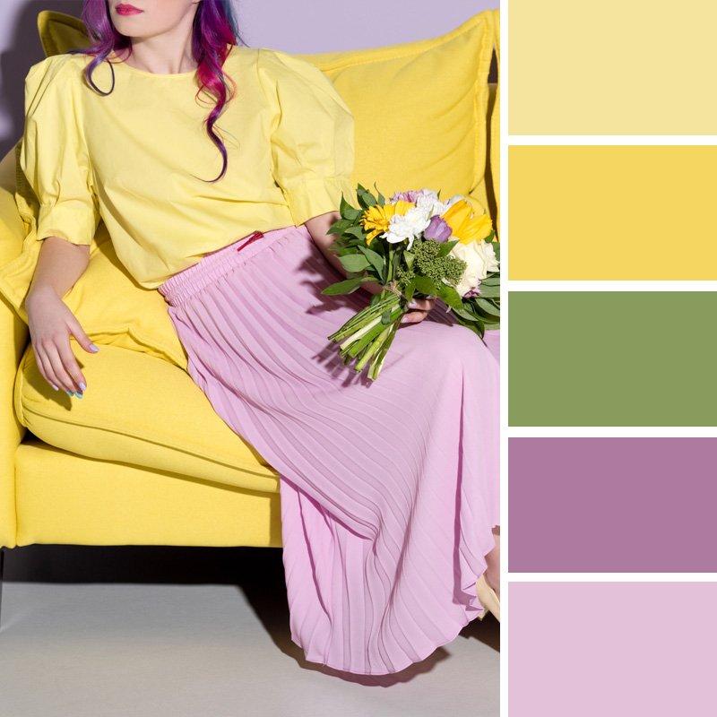 комбинация цветов в женской одежде