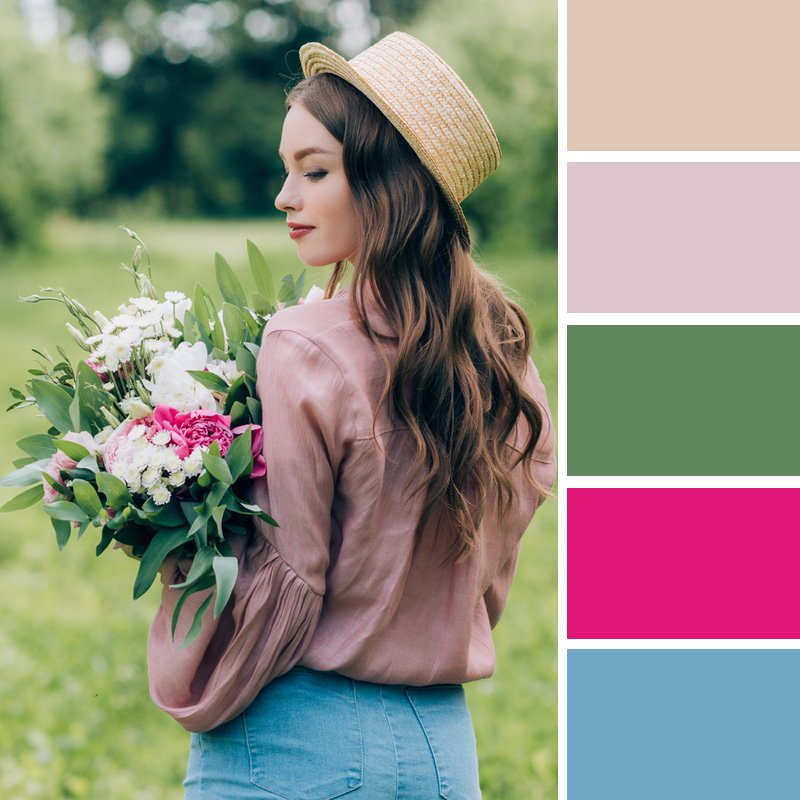весна цветовые сочетания