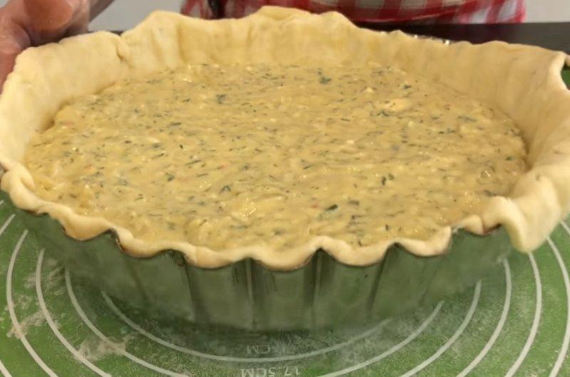 луковый пирог без дрожжей
