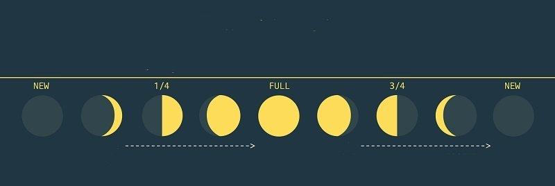 Стадия похудения луны