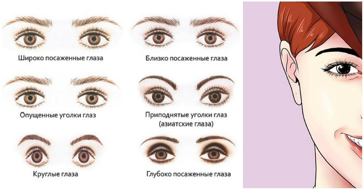 Разрез глаз и брови