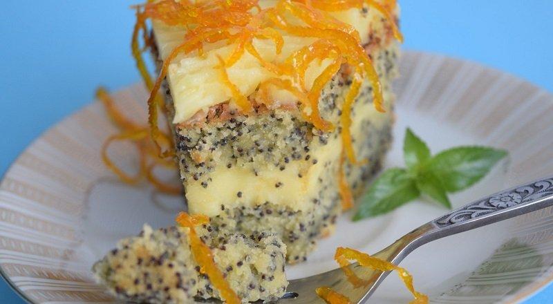 апельсиновый торт с маком рецепт