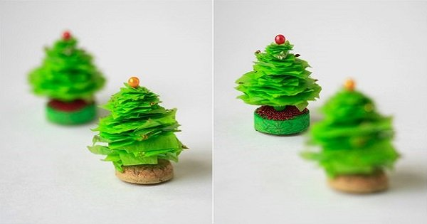 Сделай крохотные елочки к Новому году своими руками! Миниатюрные украшения к любимому празднику.