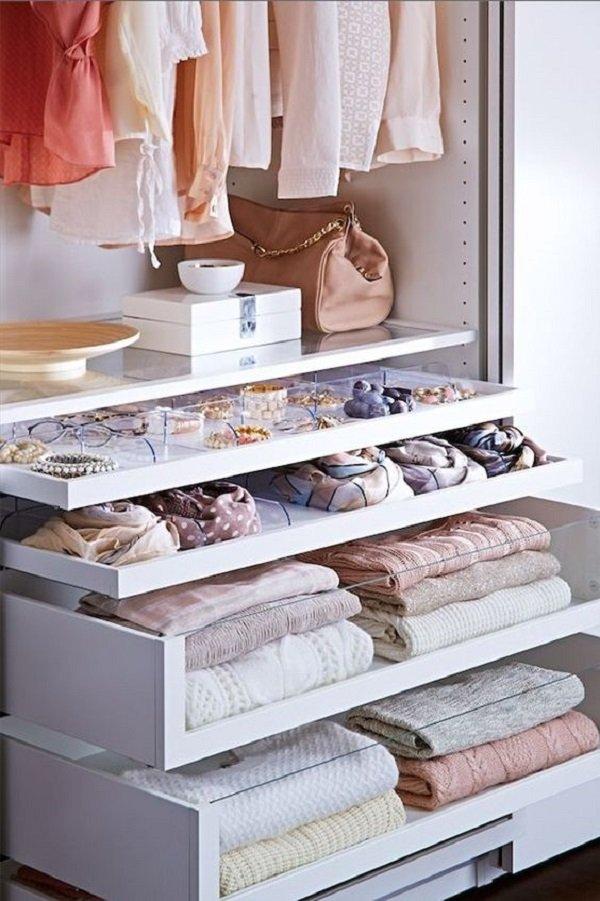 маленькая гардеробная комната дизайн