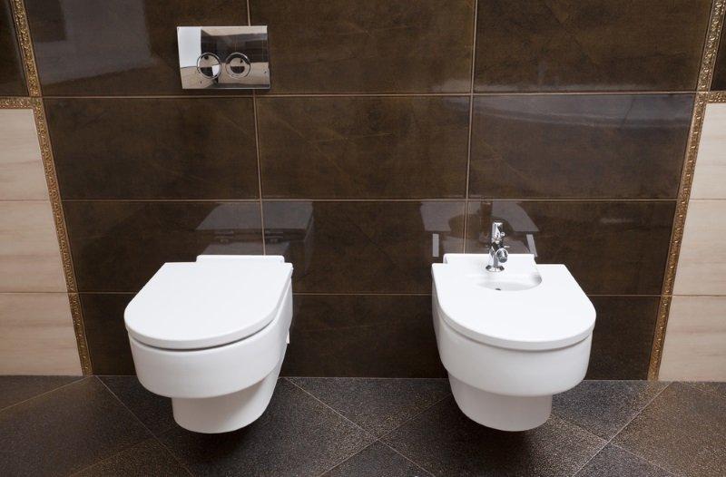дизайн туалета керамической плиткой