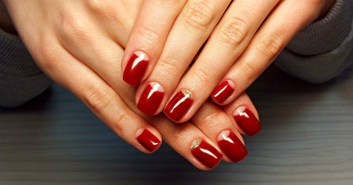 Фото маникюра шеллак с дизайном на короткие ногти