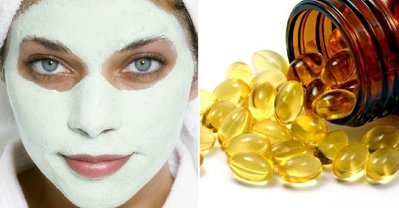 домашняя маска для лица с витамином е