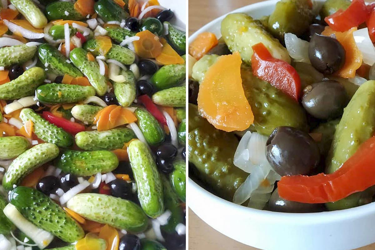 овощи в маринаде
