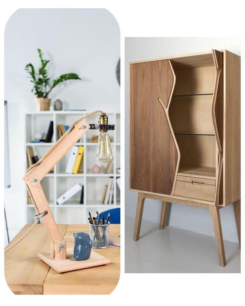 деревянный мебельный декор