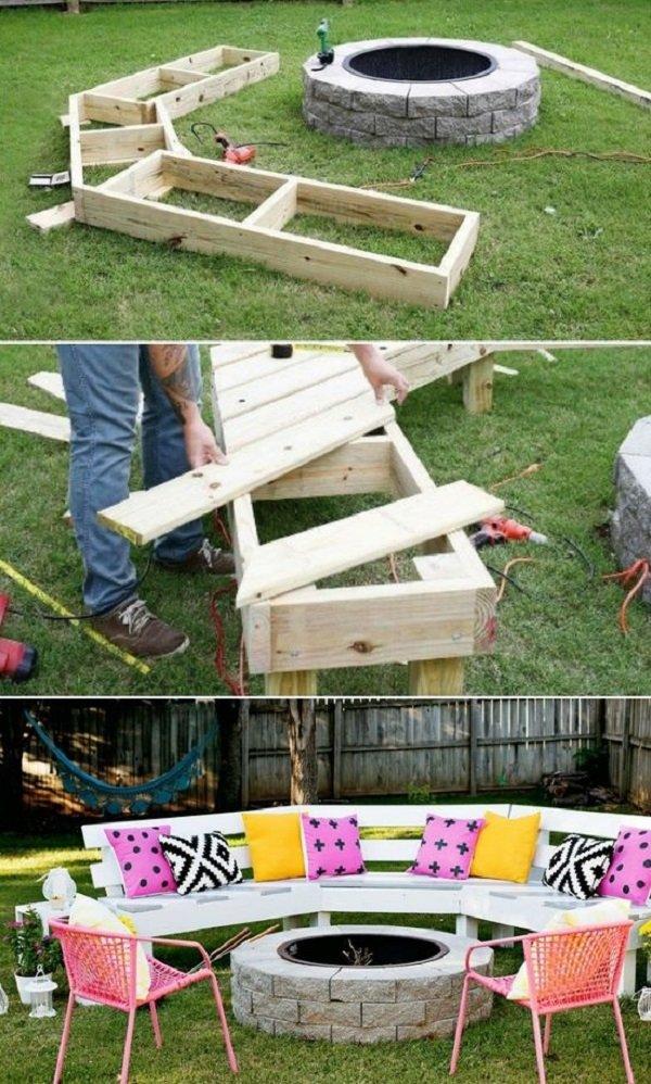 градински мебели палети с ръцете си