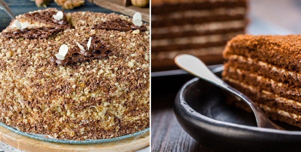 Инструкция по приготовлению медовика с шоколадно-ореховым вкусом