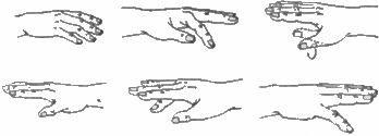 опускание пальцев