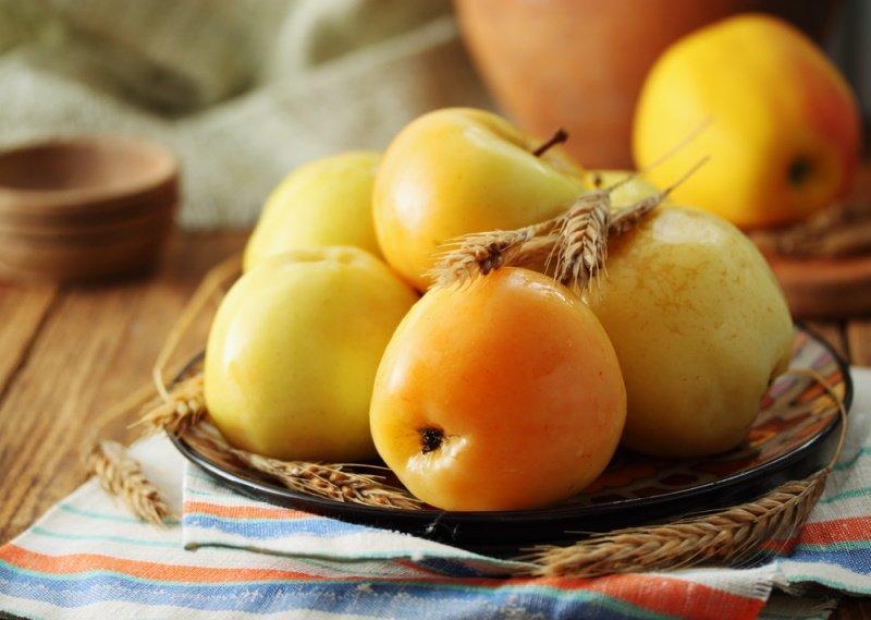моченые яблоки с горчицей