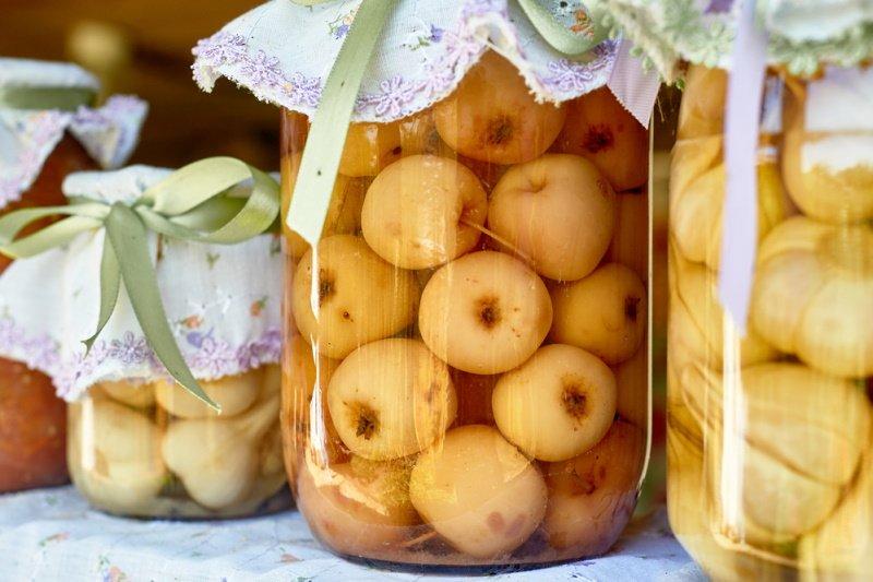 моченые яблоки антоновка на зиму