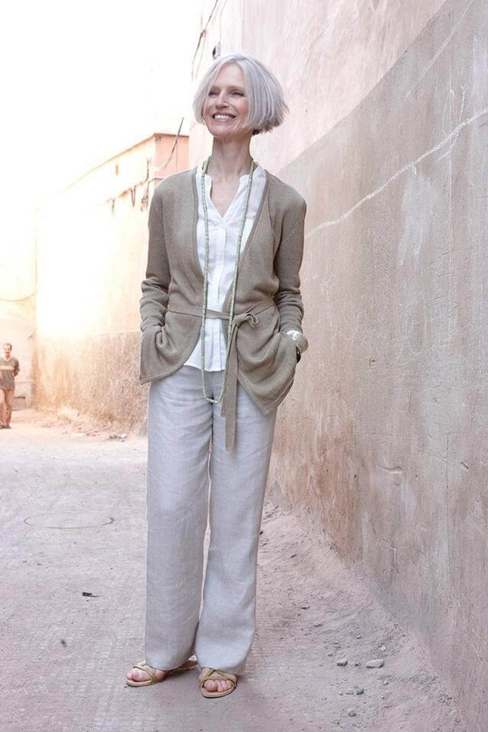 осенняя мода для женщин за 50