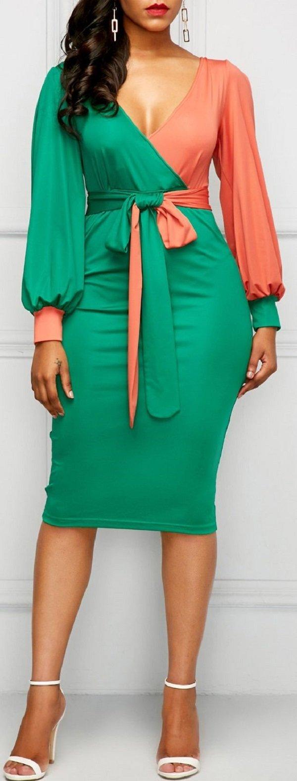 модные модели платьев для полных женщин