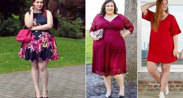 модели платьев для полных женщин из шифона