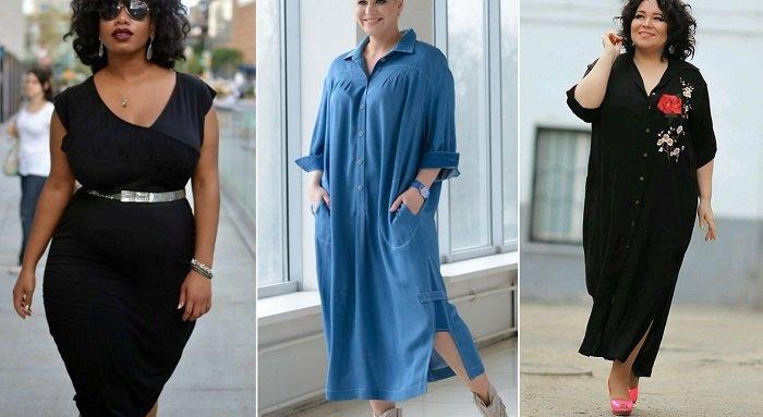 интересные модели платьев для полных женщин