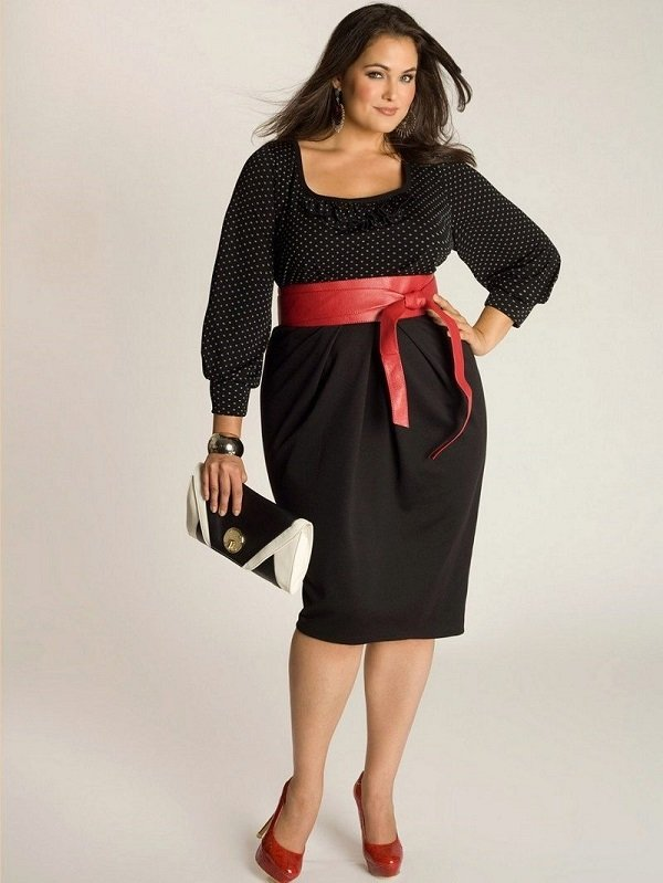 модели платьев для полных женщин фото