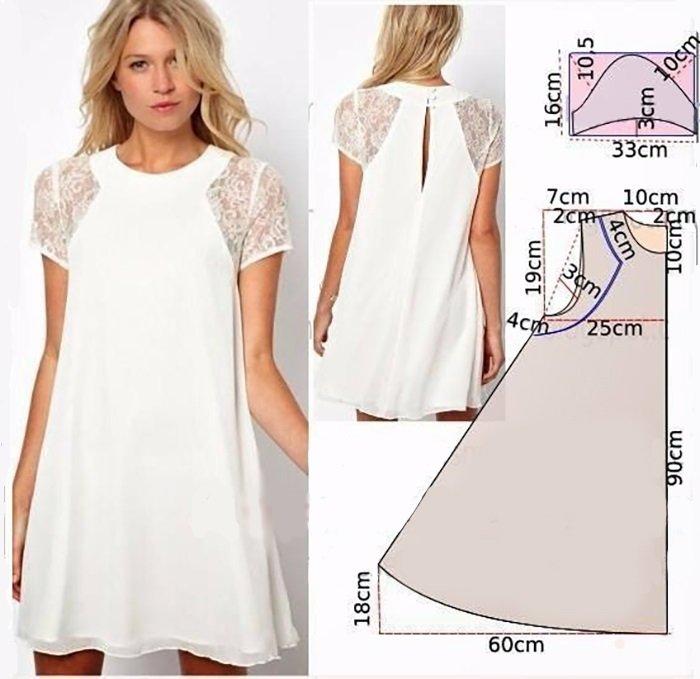 Летнее платье выкройка с своими руками