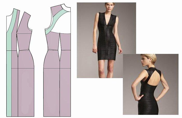 Как сделать на платье v-образный вырез