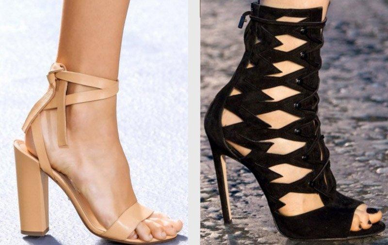 pletené sandále s členkom