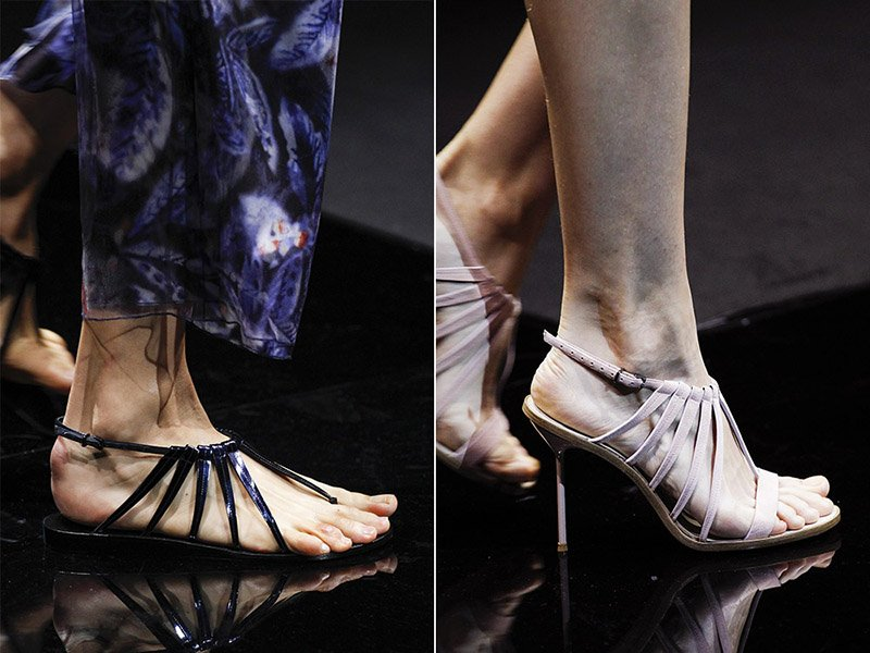 ремешки и плетения на обуви