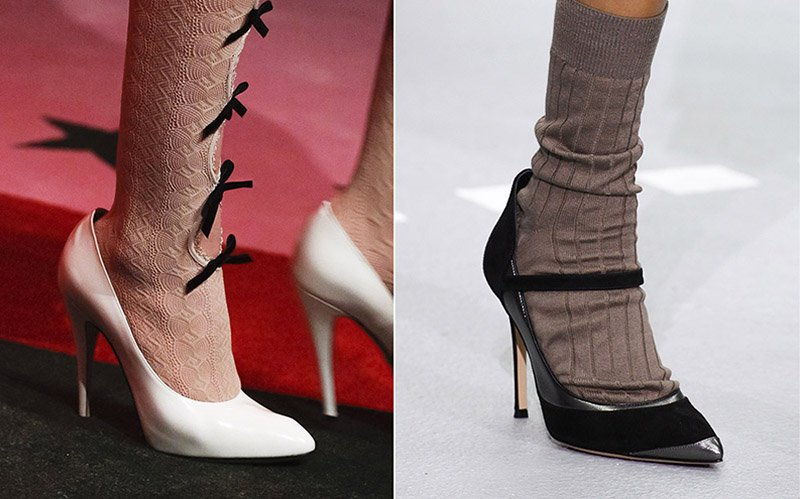 классические туфли и носки