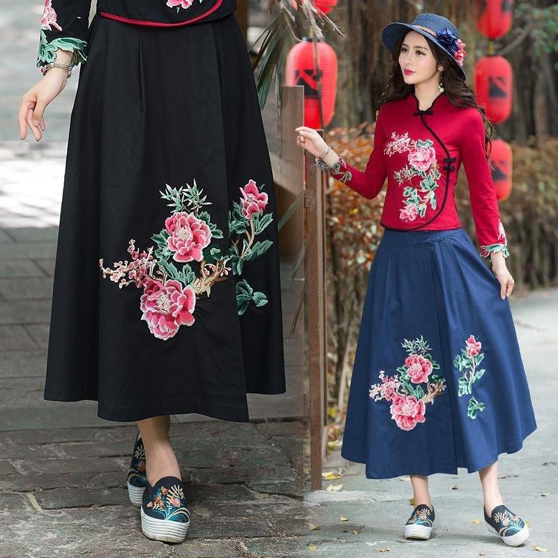 современные платья вышиванки