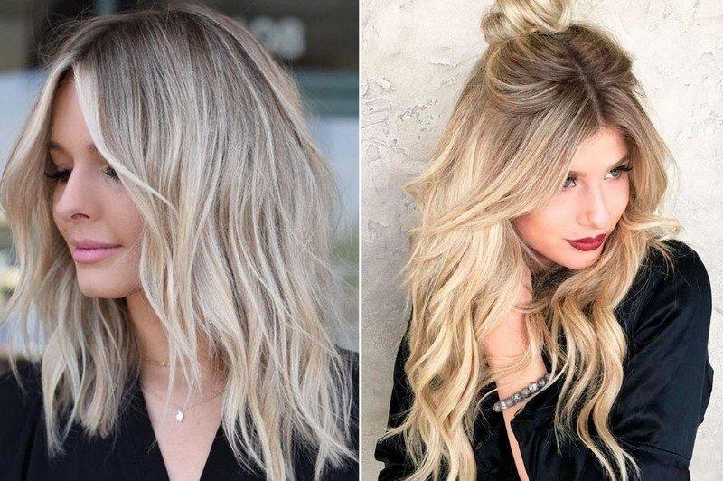 модное окрашивание блондинок