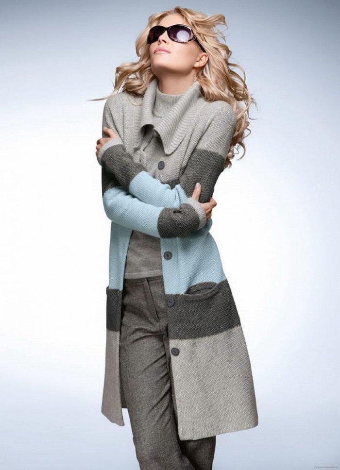 шарф и пальто оверсайз